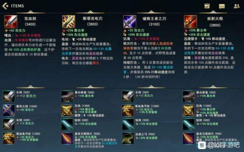 英雄联盟手游装备中文翻译 LOL手游全装备信息中文翻译一览